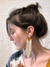 Salihah Moore Scout Earrings / Gold + Ivory