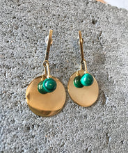 Quarry Tait Earrings in Brass and Malachite