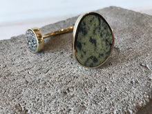 Quarry Jaspe Double Cuff Frogskin Serpentine & Speckle Jasper