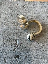 Quarry Jaspe Double RIng, Brass, Leopard Skin & Dalmatian