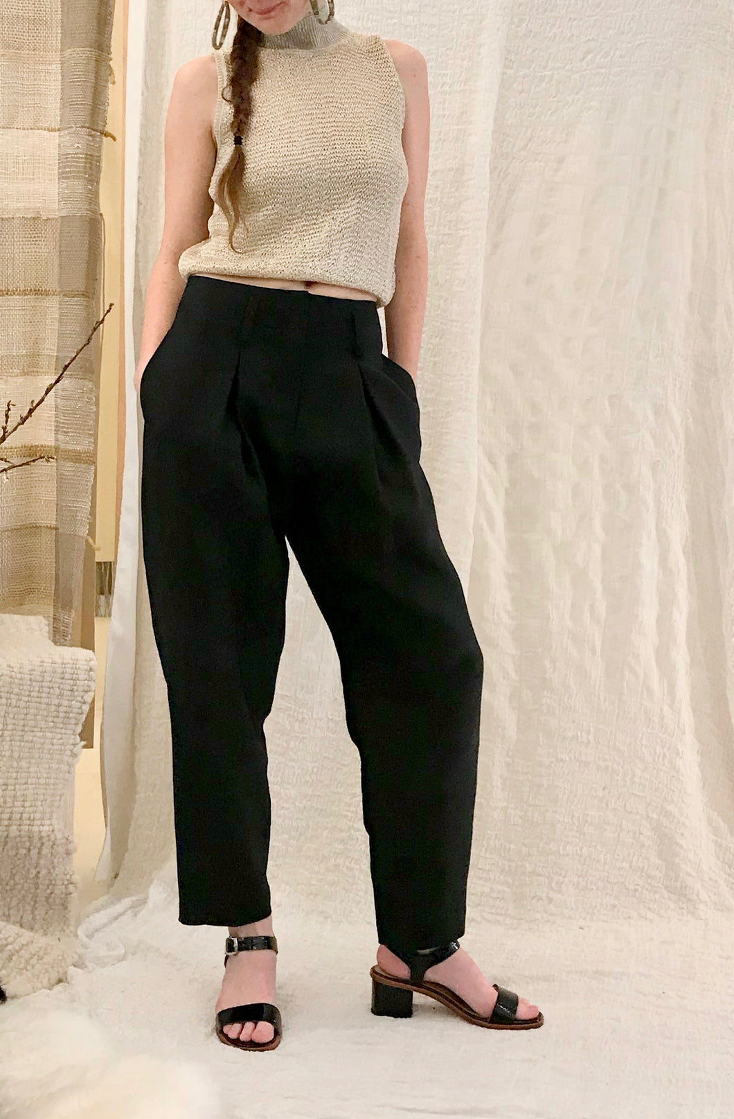 No.6 Hollis Pant / Black Linen