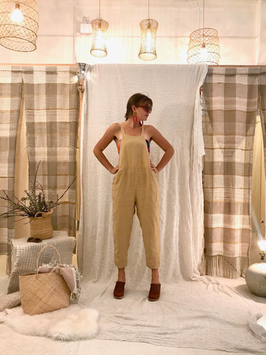 Black Crane Sack Overall / Tan