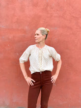Caron Callahan Isola Top / Taupe Clipped Dot