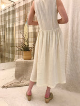 Black Crane Tank Dress / Cream