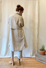 7115 by Szeki Signature Linen Trench Duster / Oatmeal