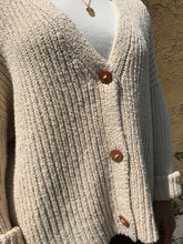 Lauren Manoogian Rib Boucle Cardigan / Cream