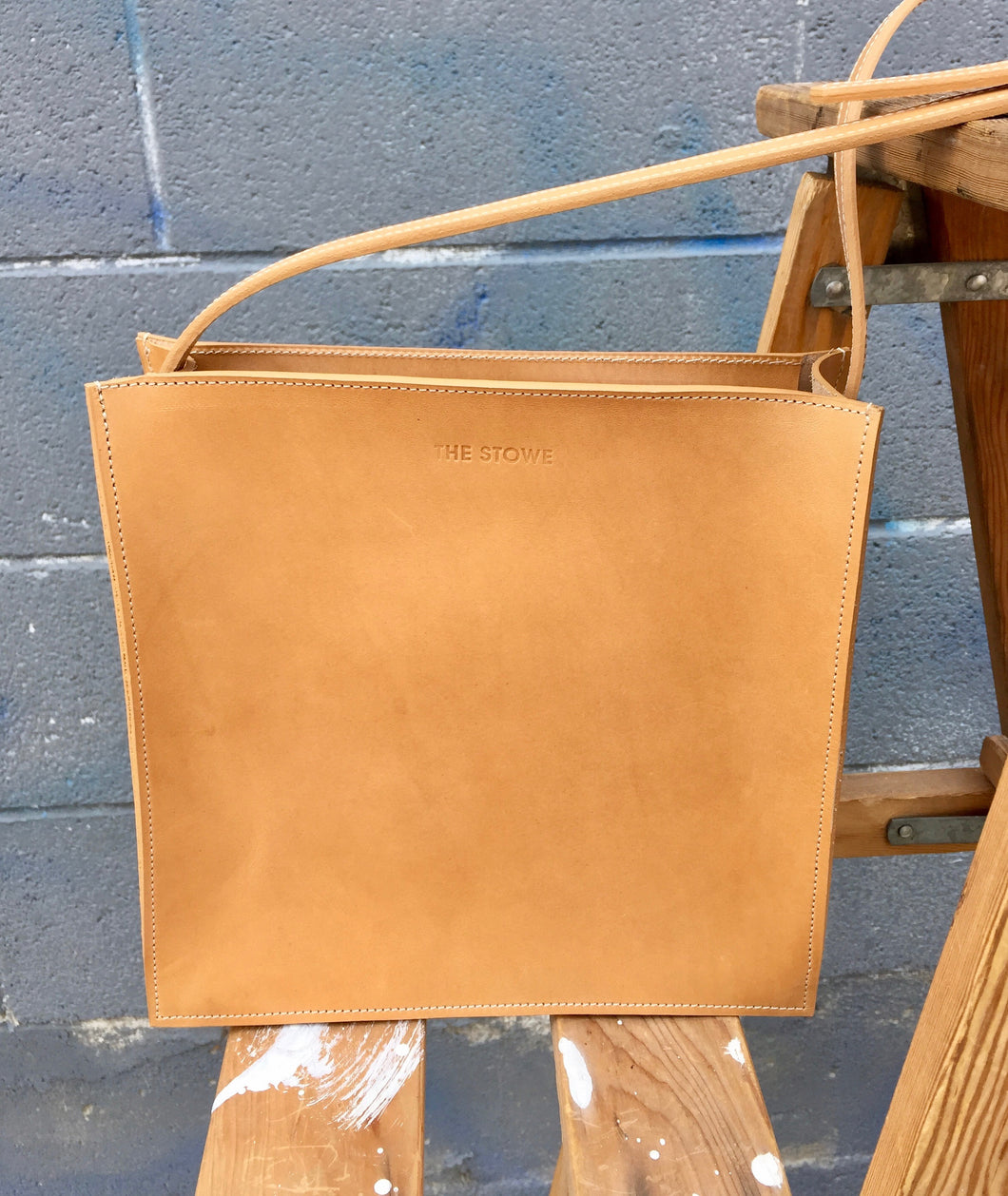 The Stowe Mini Charlotte Vegetable Tanned Honey Leather