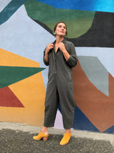 Black Crane Easy Jumpsuit / Dark Grey