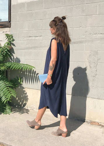 7115 by Szeki Signature Reversible Maxi Dress / Navy