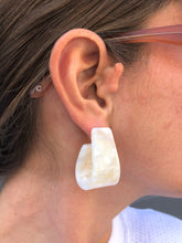 Rachel Comey Mini Slalom Earrings / Cloud White