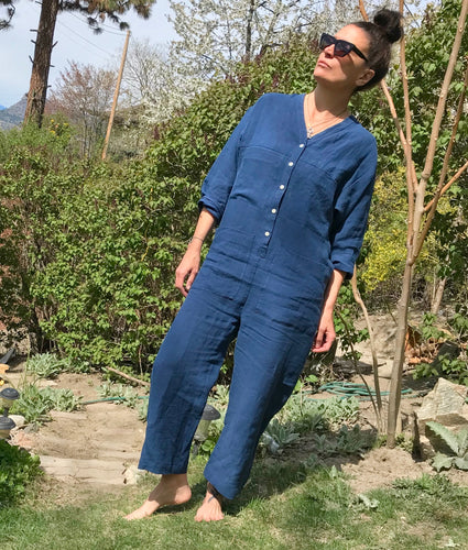 Ilana Kohn Tuck Coverall / Dark Blue