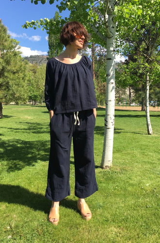 Atelier Delphine Alameda Cropped Pant / Darkest Navy