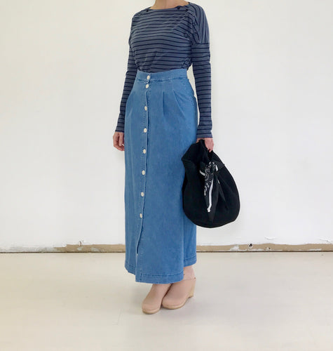 Ilana Kohn Celio Skirt in Denim