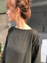 Black Crane Easy Dress / Dark Grey