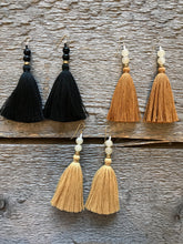 Ora C Lina Earrings in Black, Caramel and Honey