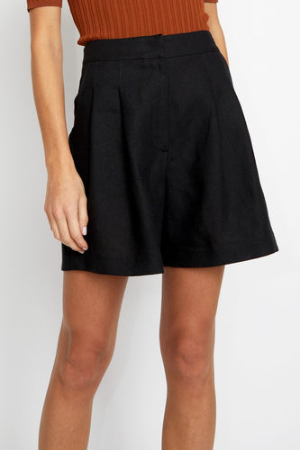 No.6 Annika Short / Black Linen