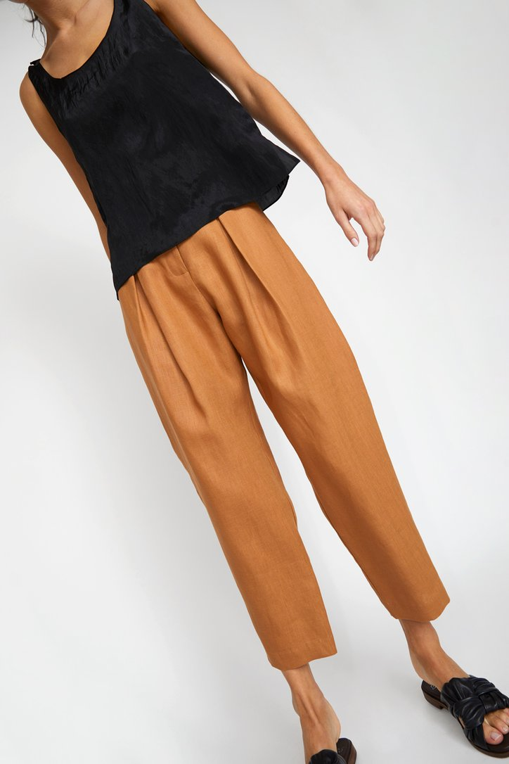 No. 6 Hollis Pant / Toast Linen