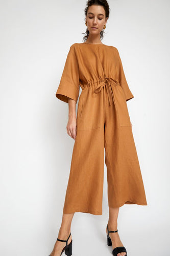 No. 6 Ida Jumpsuit / Toast Linen