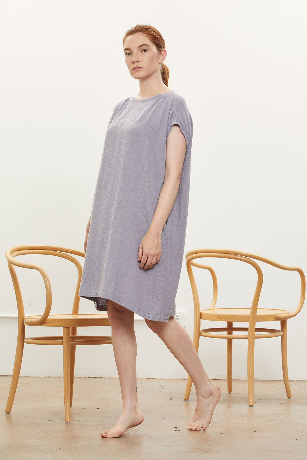Black Crane Box Dress / Lavender