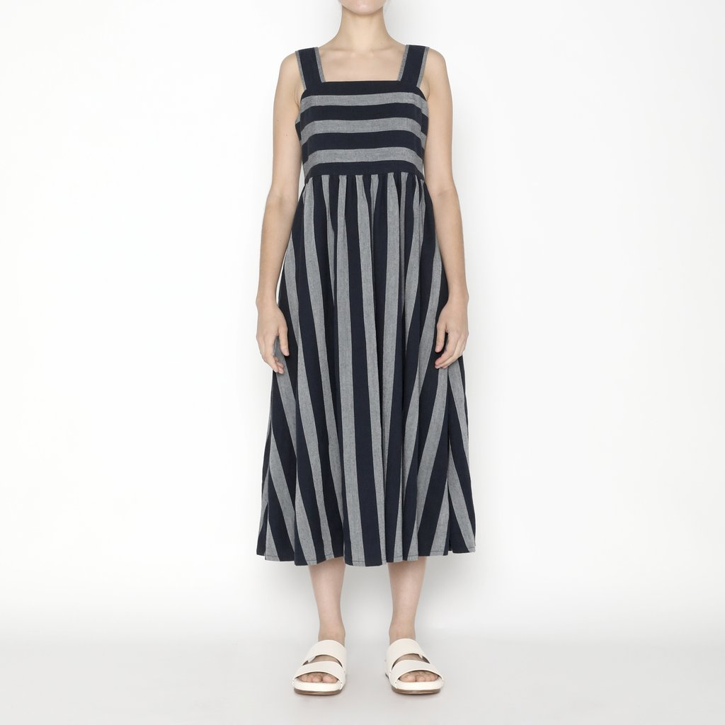 Szeki Summer Sundress / Dark Stripe, Dark Stripe