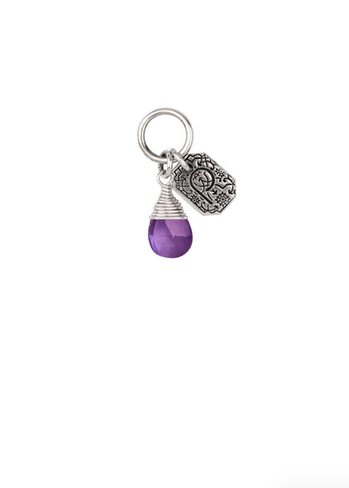 Pyrrha Balance Amethyst Signature Attraction Charm, Sterling Silver