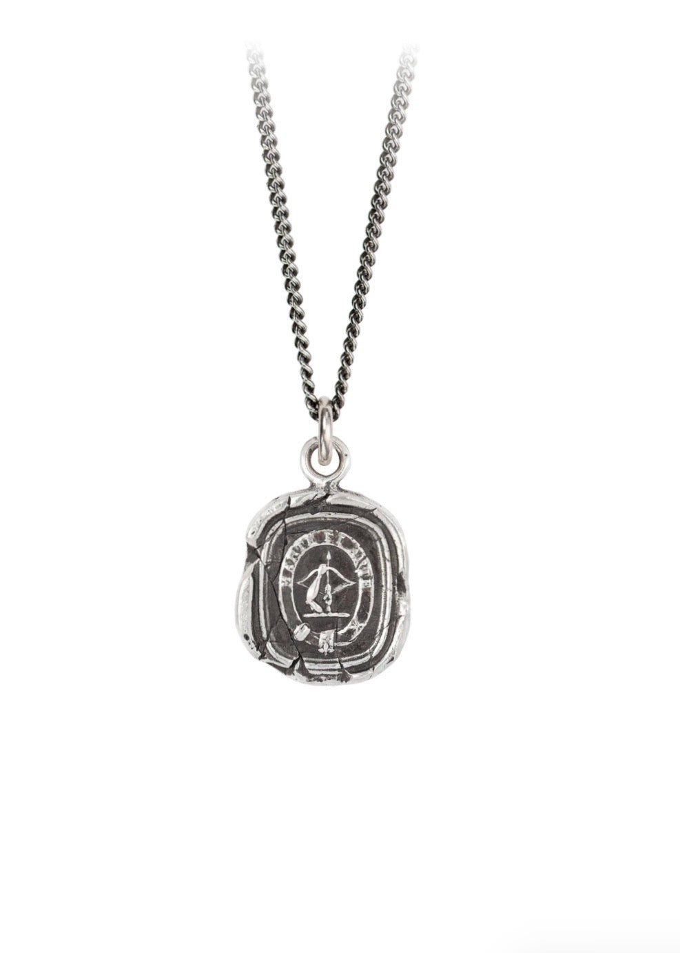 Pyrrha Strength and Skill Talisman / Silver