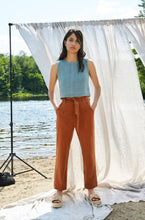 Eve Gravel Chestnut Top / Aqua