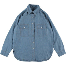 Girls of Dust Deck Shirt  / Naval Chambray, Indigo