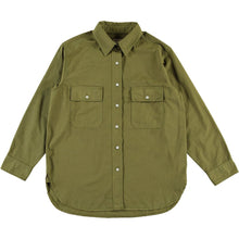 Girls of Dust Deck Shirt / Cotton Drill, Olive