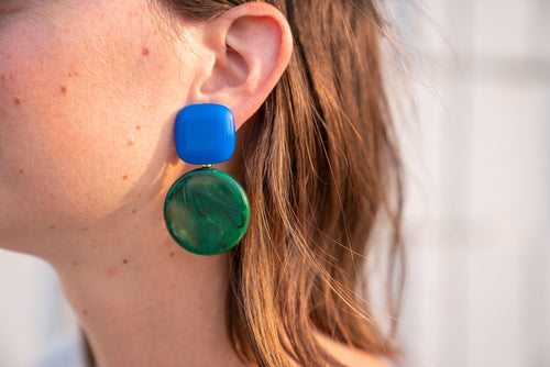 Rachel Comey Arc in Blue-Malachite Acrylic