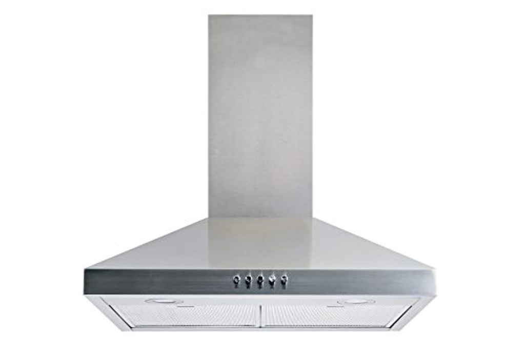"Winflo New 30"" Convertible Stainless Steel Wall Mount Range Hood with Aluminum Mesh filter, Ultra bright LED lights and Push Button 3 Speed Control"