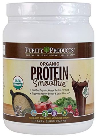 Purity Products - The Organic Protein Smoothie - Dark Chocolate-20.37 oz