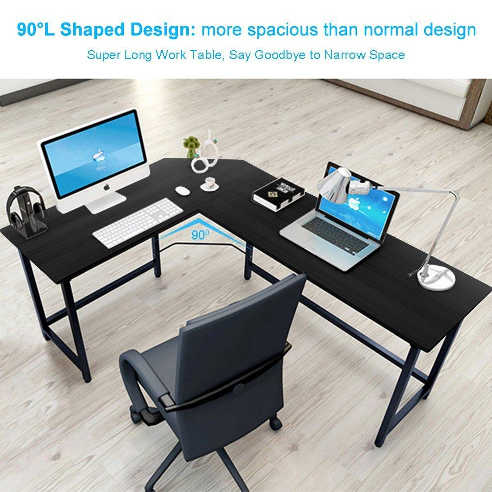 the office super desk. Tribesigns Modern L-Shaped Desk Corner Computer PC Latop Study Table Workstation Home Office The Super