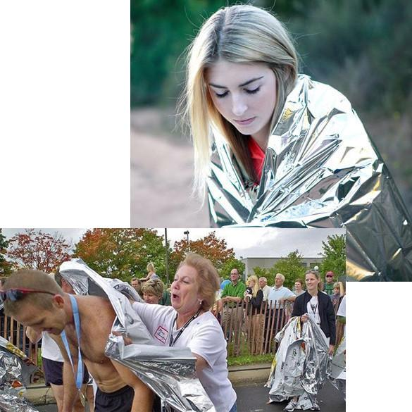 Portable Outdoor Survival Waterproof Emergency Mylar Blanket
