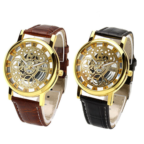 New Digital Quartz Skeleton Wrist Watch