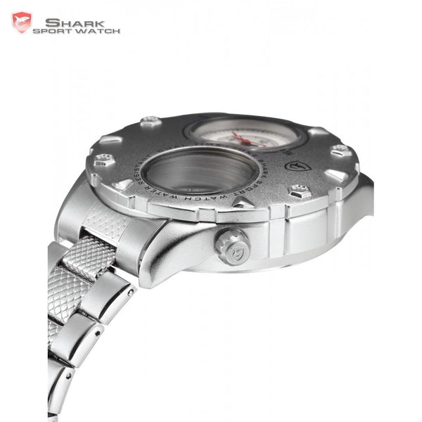 Sharklife Brand Mens Dual Time Zone Sports Watch