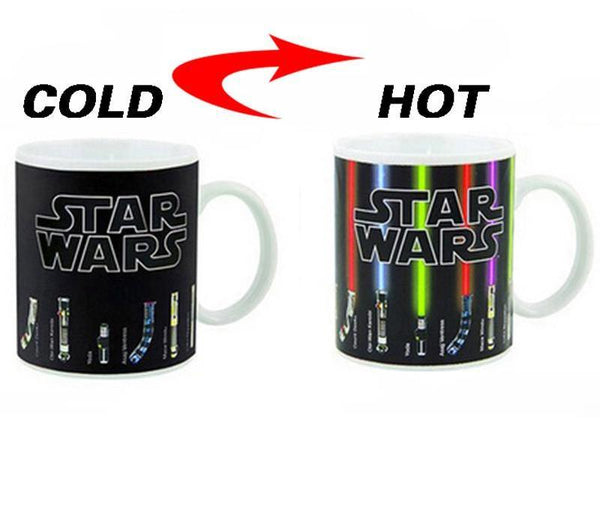 star wars lightsaber color changing mug, perfect gift, star wars fans