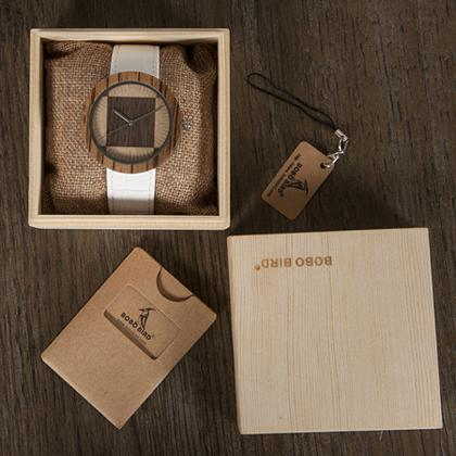 BOBO BIRD Zebra Wenge Wooden Watch