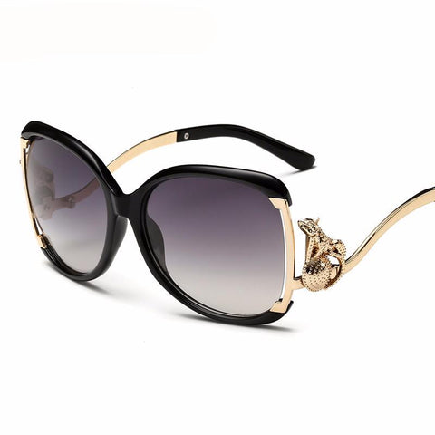 Retro Ladies Leopard Oversized Sunglasses UV400 Sun Glasses- Free Shipping
