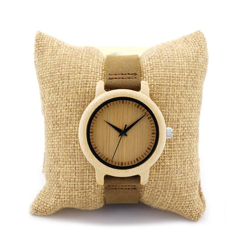 Unique Vogue Womens Bamboo Wooden Watch