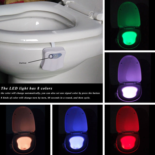 LED Night Light Motion Sensor Automatic Toilet Hanging Light Bowl*Back on sale*