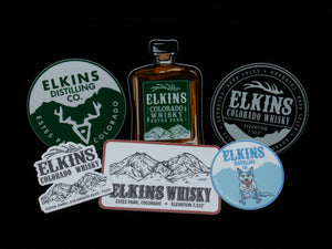 Elkins (Six Pack) Stickers