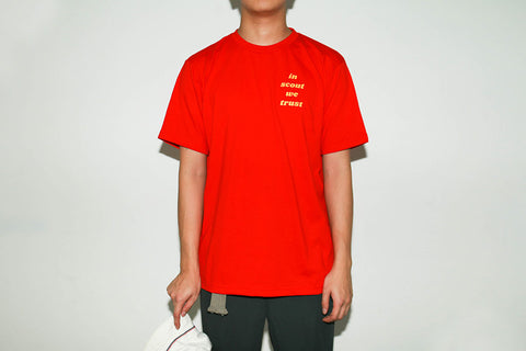 """In Scout we trust"" tee - Red"