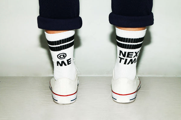 """@ ME NEXT TIME"" socks - Black"