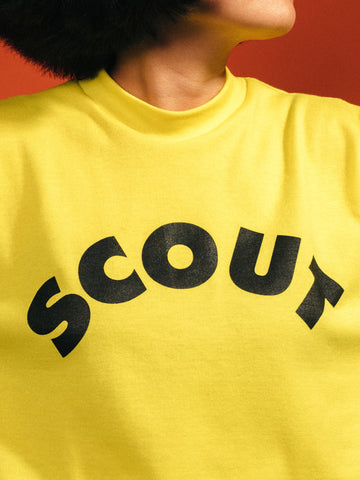 Scout Logo Retro Collegiate Sweater (Yellow)