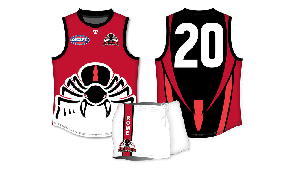 Rome Redbacks 2018 AFL Uniform