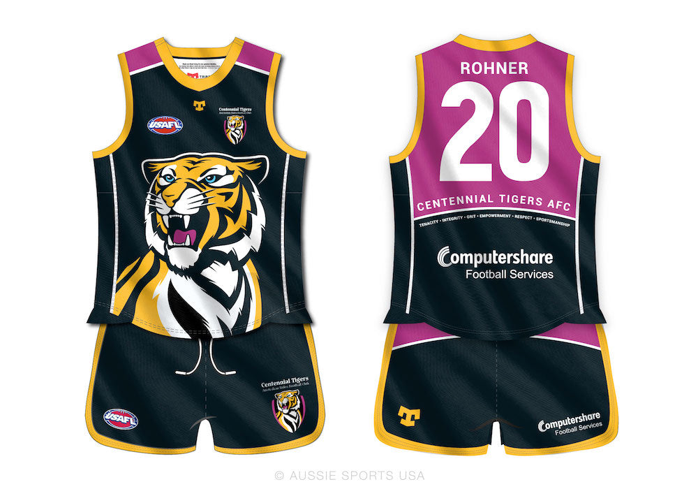 Centennial Tigers Womens Apex Jersey and Core Shorts