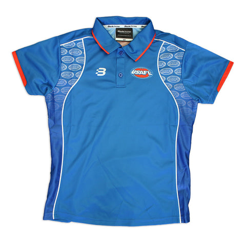 USAFL Womens Elite Polo - Blue