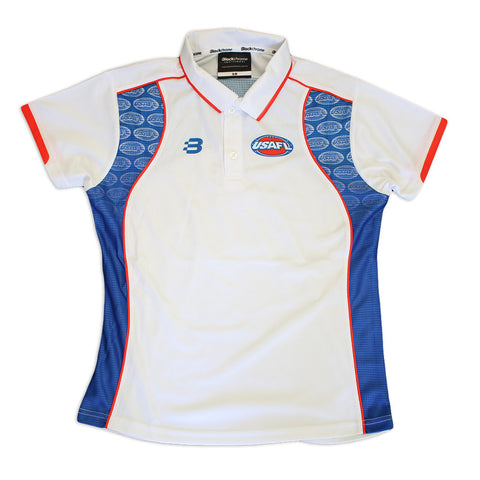 USAFL Womens Elite Polo - White