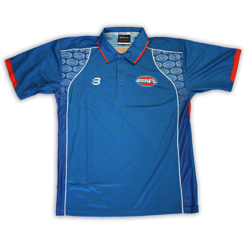 USAFL Blue Polo Shirt